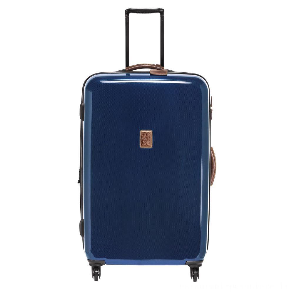 Boxford Valise à roulettes - Bleu Pas Cher