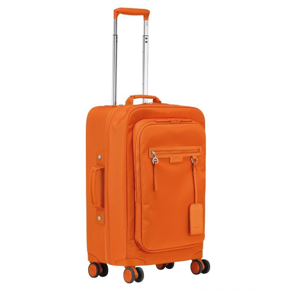 Le Pliage Néo Valisette à roulettes - Orange Soldes