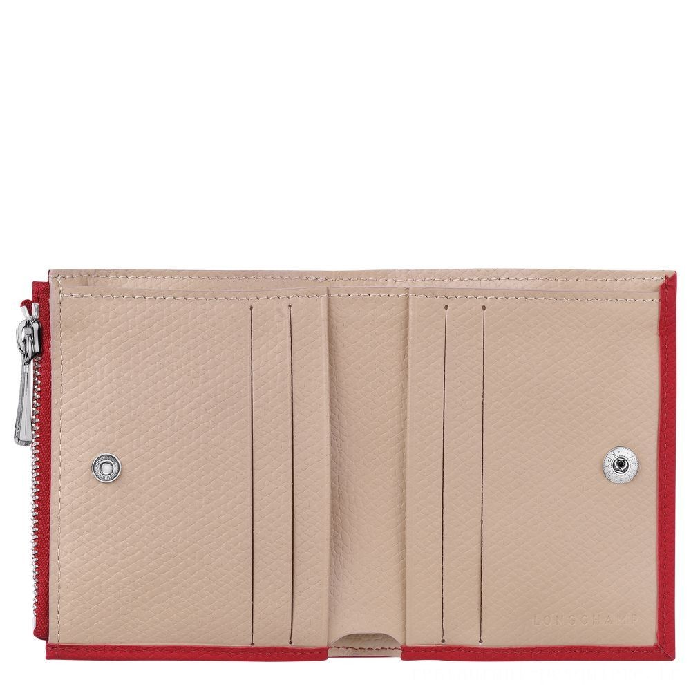 [Soldes] - Roseau Portefeuille compact - Rouge