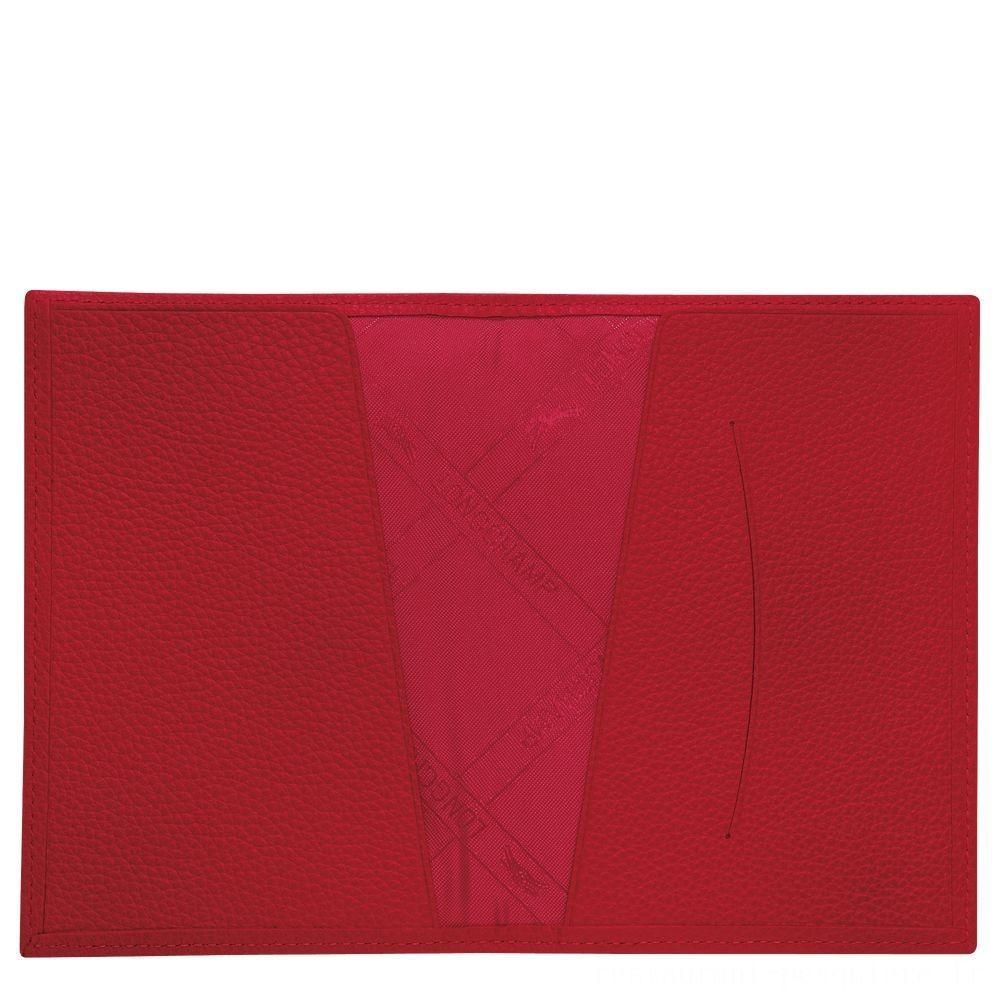 [Soldes] - Le Foulonné Étui passeport - Rouge