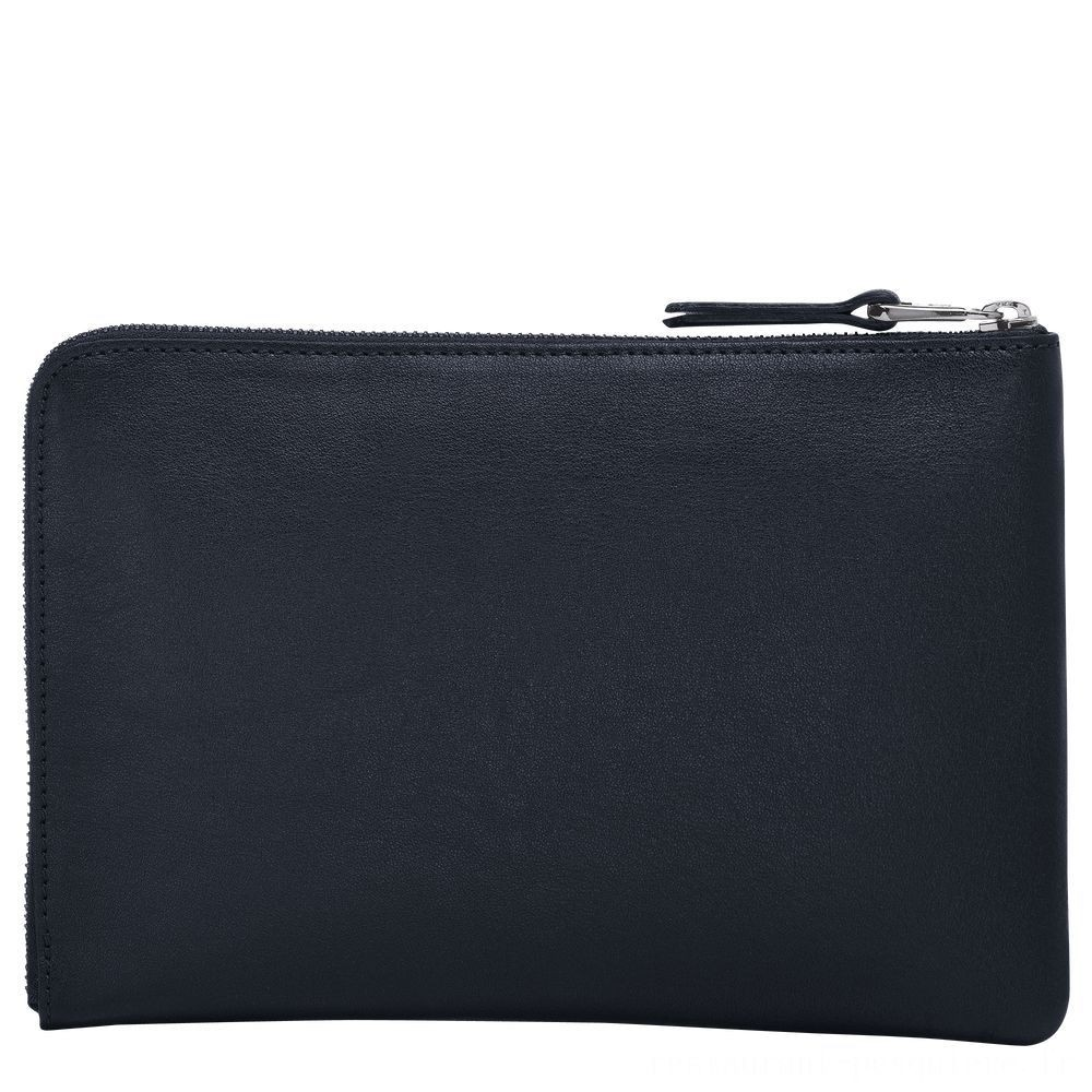 Longchamp 3D Etui iPad Mini® - Minuit Soldes