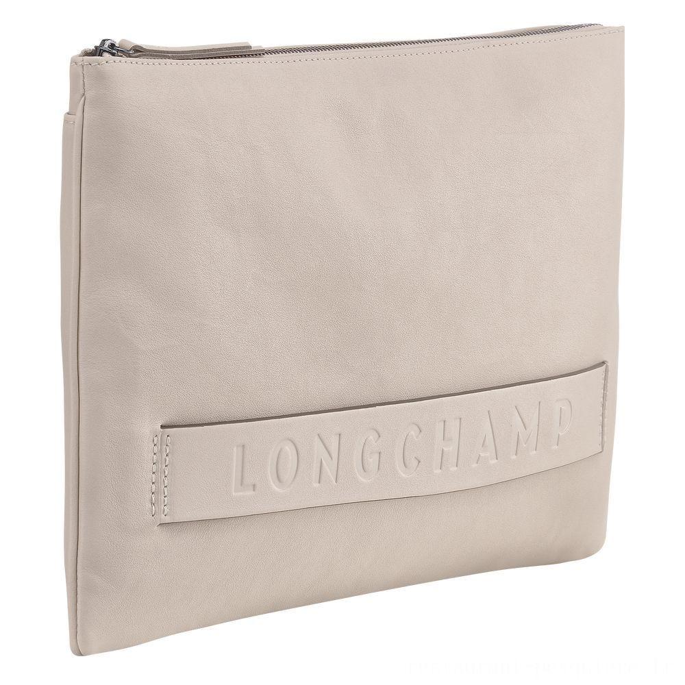 [Soldes] - Longchamp 3D Pochette - Argile