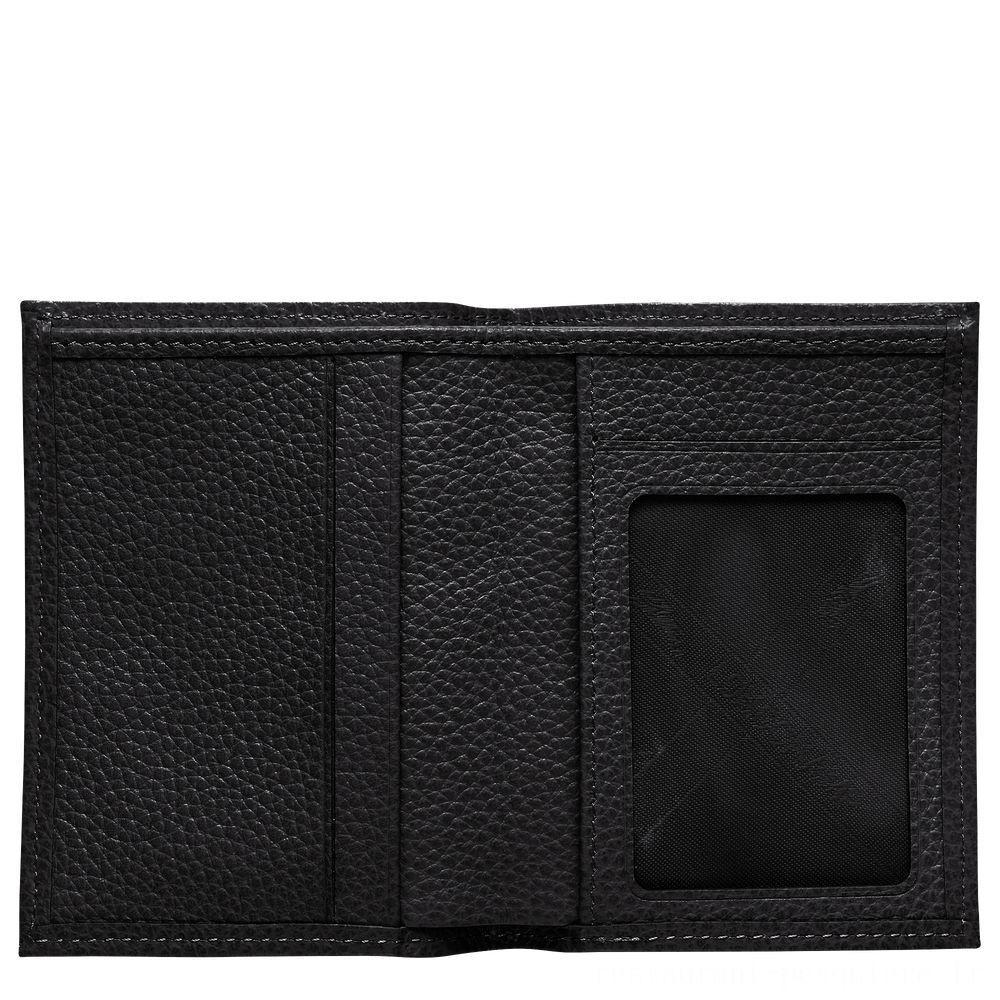[Soldes] - Le Foulonné Porte-cartes - Noir