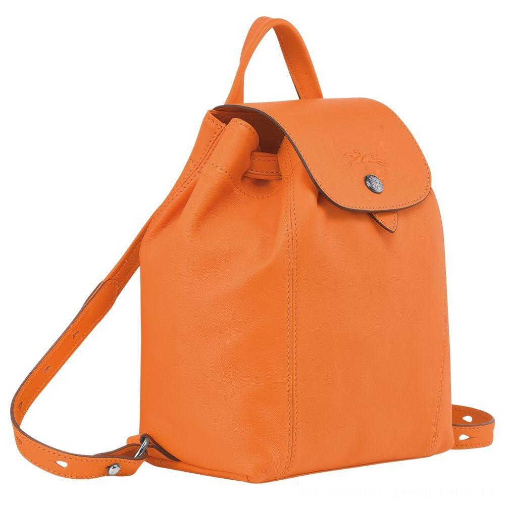 [Vente] - Le Pliage Cuir Sac à dos - Orange