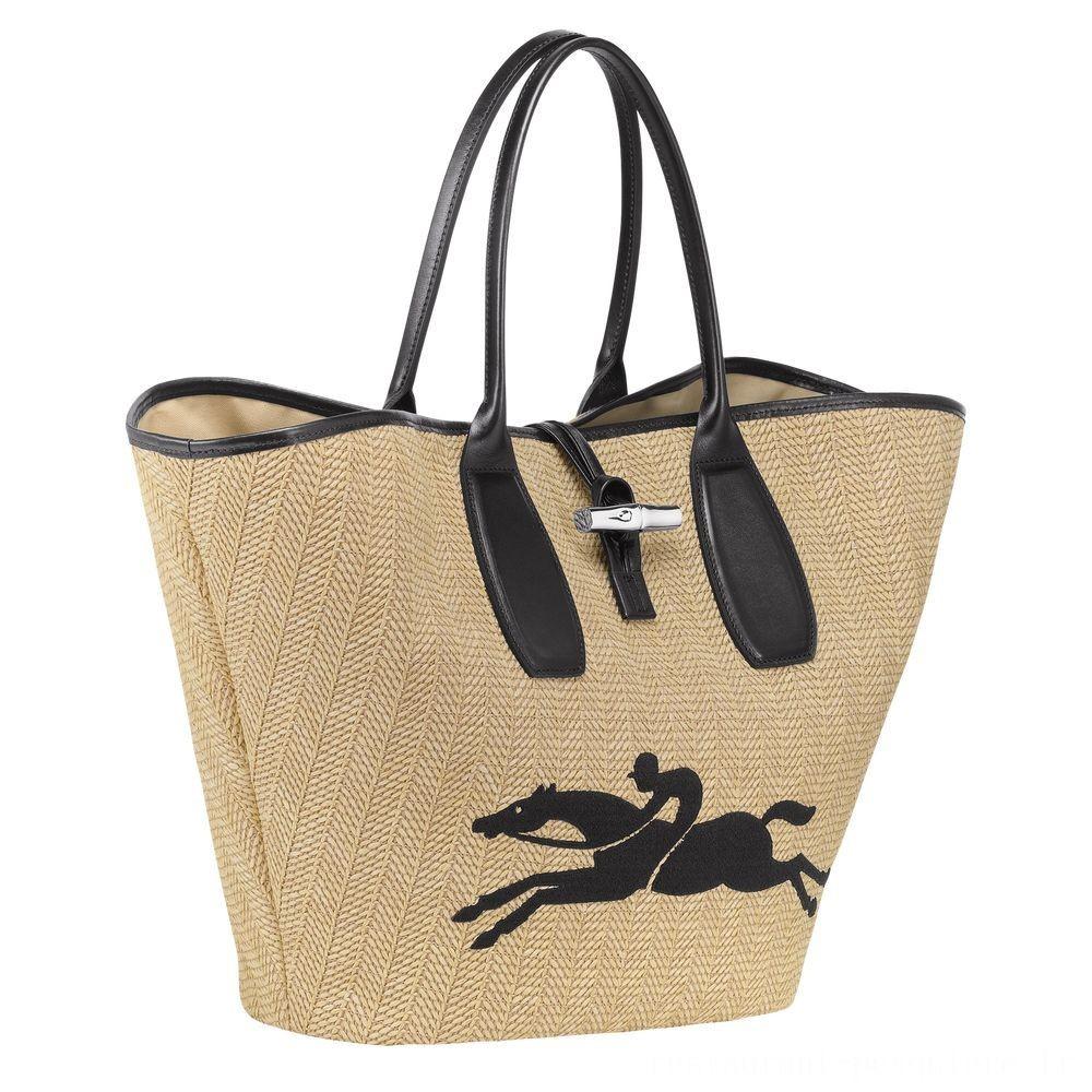 Roseau Sac shopping - Naturel Soldes