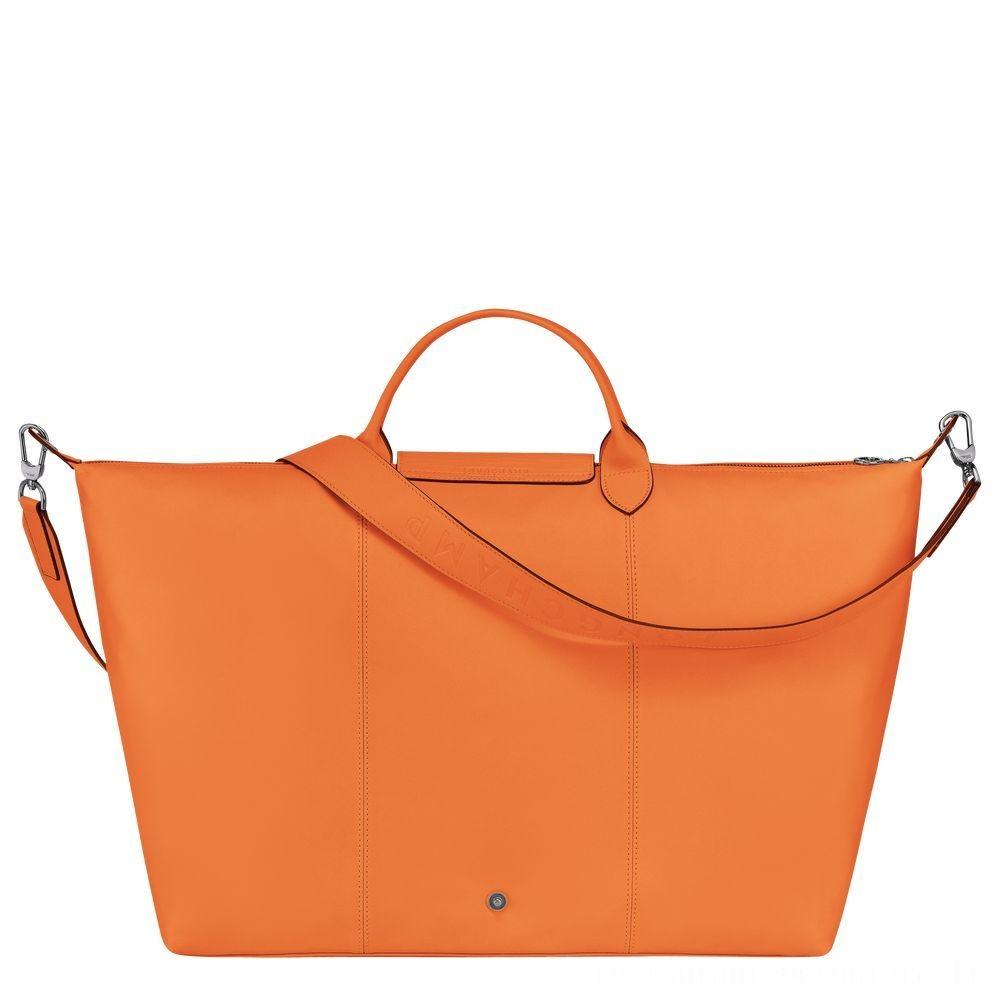 Le Pliage Cuir Sac de voyage - Orange Pas Cher