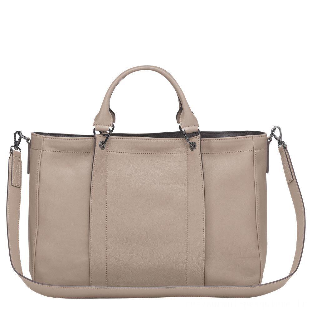 Longchamp 3D Sac porté main - Vison Soldes