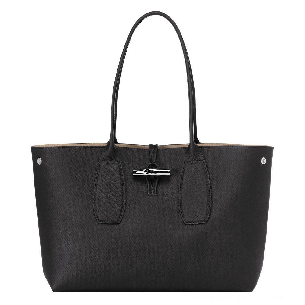 Roseau Sac shopping - Noir Soldes