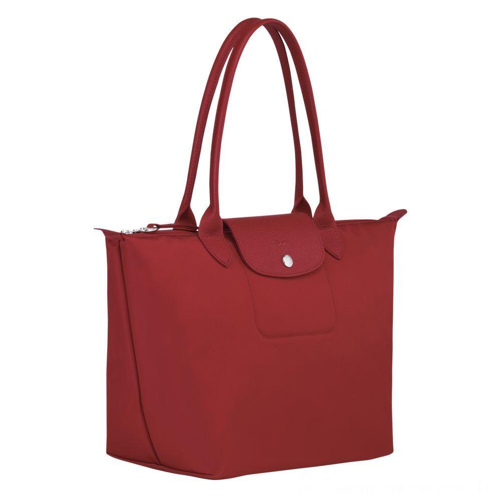 Le Pliage Néo Sac porté épaule - Rouge Pas Cher