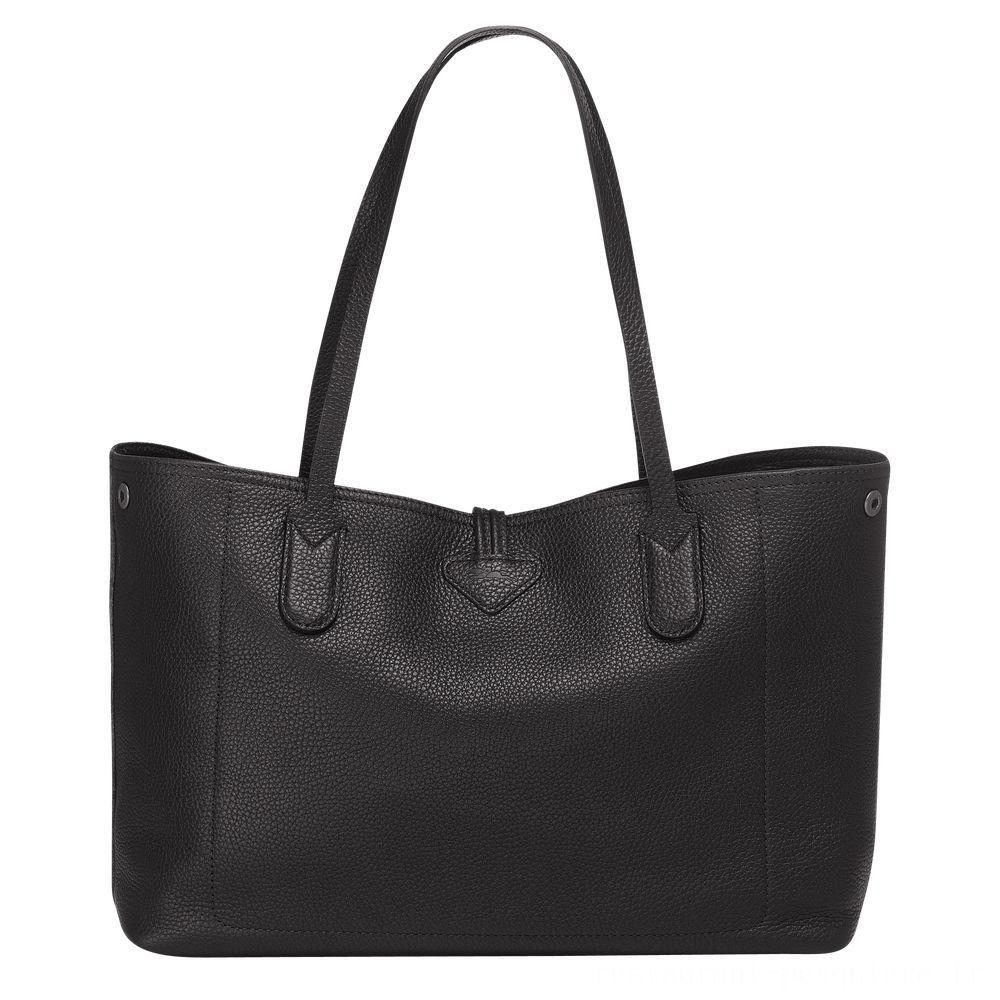 Roseau Sac shopping M - Noir Pas Cher