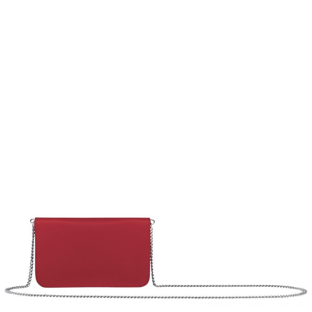 Le Pliage Néo Pochette chainette - Rouge Soldes