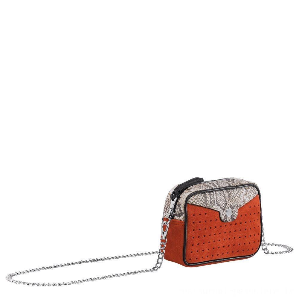 Mademoiselle Longchamp Pochette - Orange Soldes