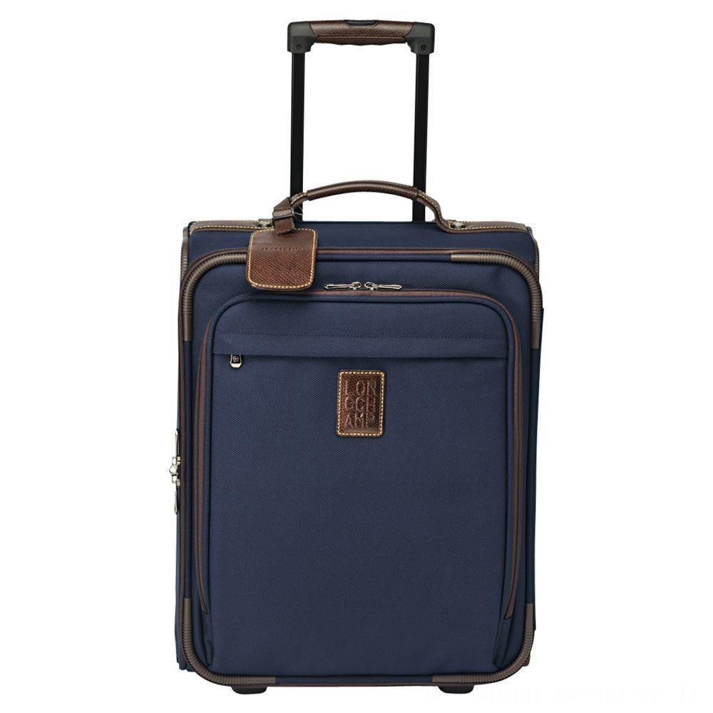 Boxford Valisette à roulettes - Bleu Soldes